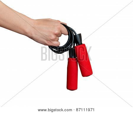 Hand Gives A Skipping Rope