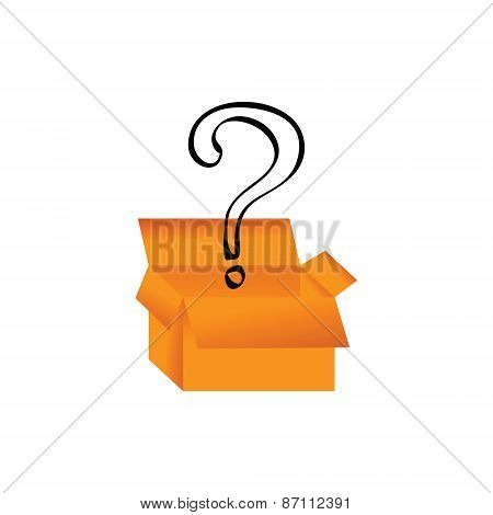 box and question mark