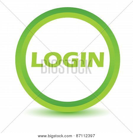 Green login icon