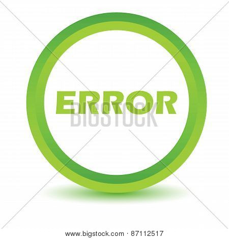 Green error icon
