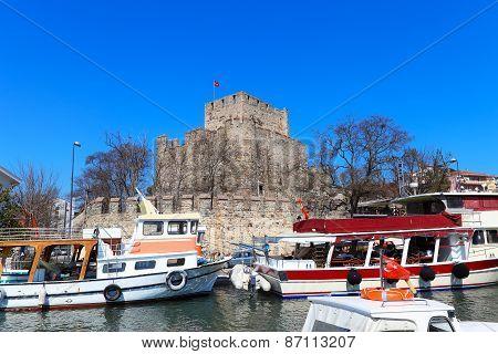 Anatolian Castle In Istanbul, Turkey