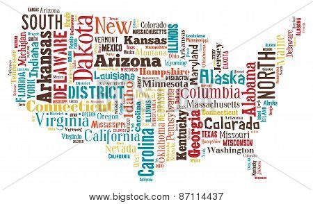 Wordcloud Of America