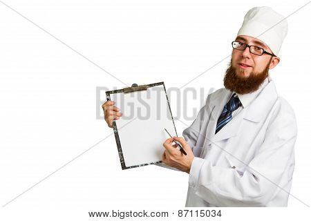 Doctor Whit A Clipboard