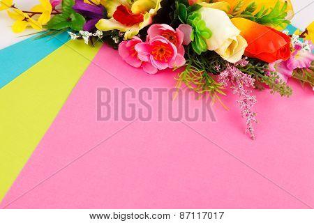 arrangement of artificial flowers