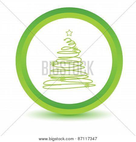 Green fir-tree icon