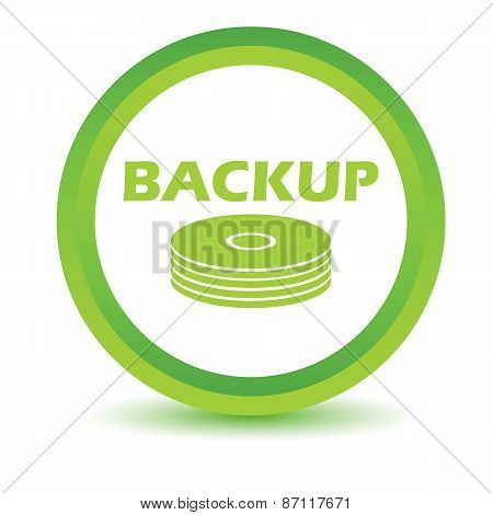 Green backup icon