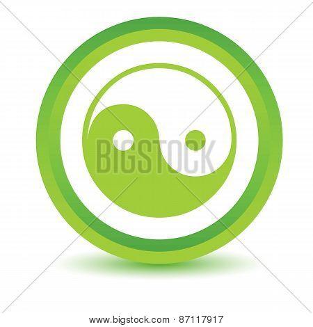 Green Yin Yang icon