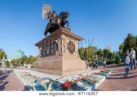 Bronze Monument To The Founder Of Samara Prince Grigory Zasekin