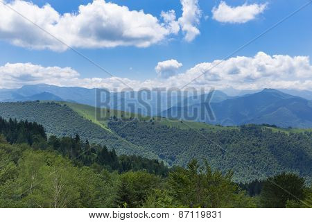 Mountain Ridge In The Pyrenees At Boussenac