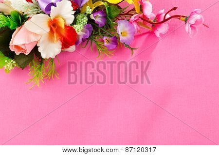 flowers  with place for label