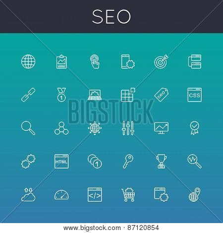 Vector Seo Line Icons