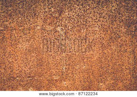 Rust Texture On Steel