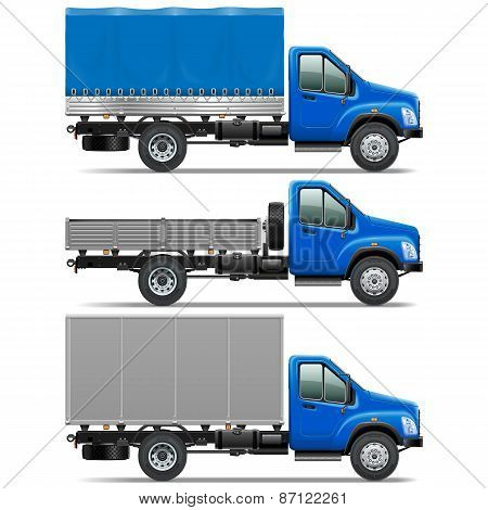Vector Lorry Icons Set 1