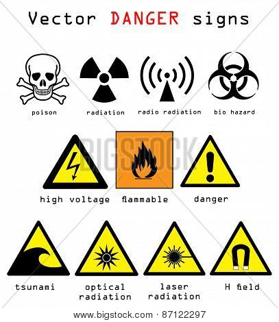 Danger Signs Vector Illustration