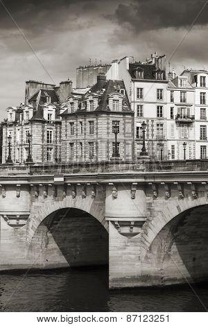 Pont Neuf. Bridge Across The Seine River In Paris
