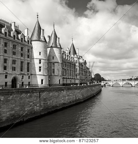 Conciergerie Castle In Paris, France