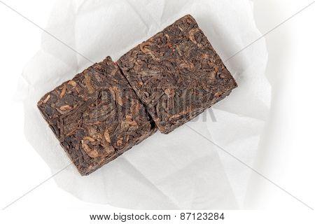 Briquettes Of Black Chinese Shu Pu-erh Tea