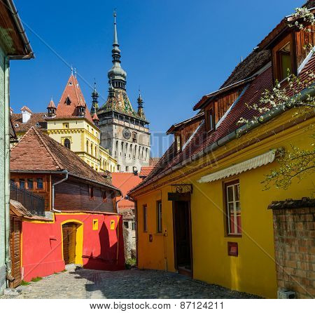 Sighisoara In Transylvania, Romania