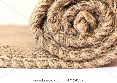 Texture Of Old Crumpled Burlap