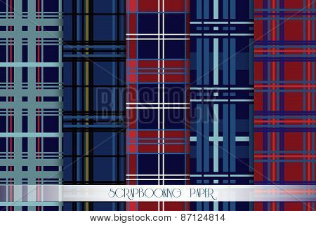 Set of scottish scrapbooking. Elements - for scrapbook and design
