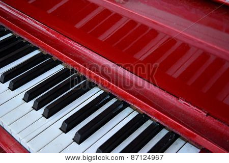 Red Piano Keyboard