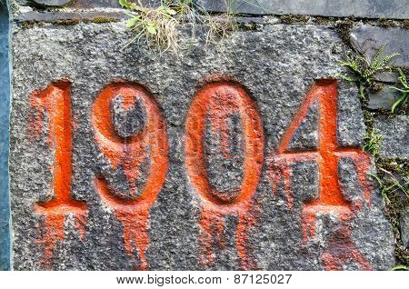 Nineteen O'four 1904 Old Year Stone