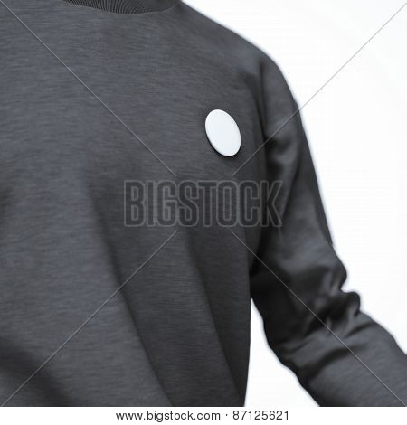 round badge button on jacket