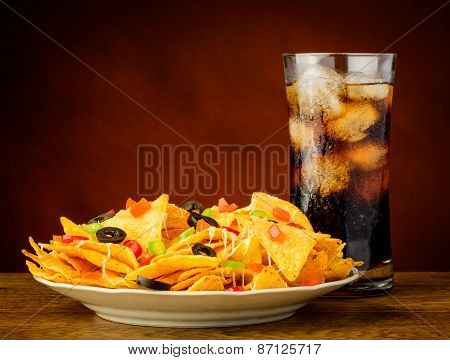 Nachos And Cola Drink