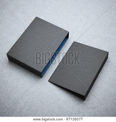 Blank black folder