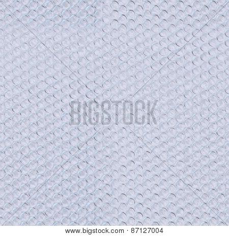 Plastic bubble wrap tiled texture