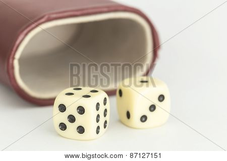 Dice Isolated On White Backgroud