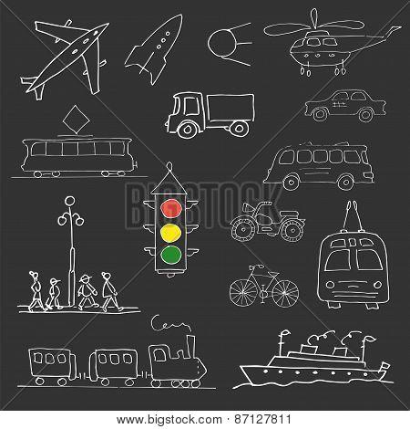 White Doodle  Transport Set