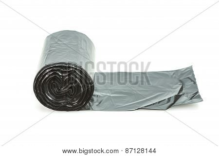 Roll Of Black Garbage Bag