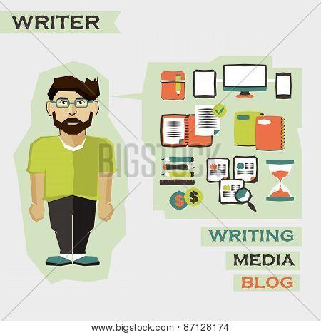 Writer. Freelance Infographic.