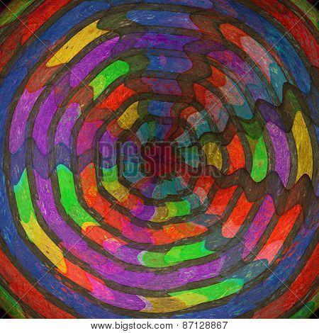 Grunge grid on a  vintage background