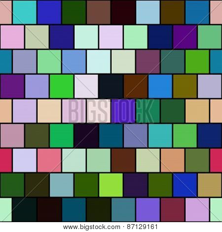 Seamless Color Tiles - Checkered Background