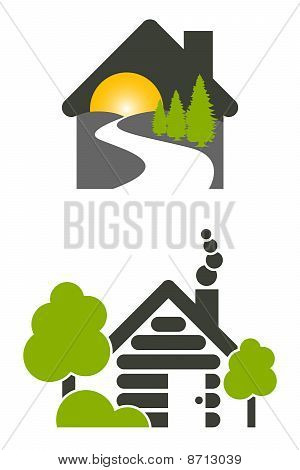Log House Icons