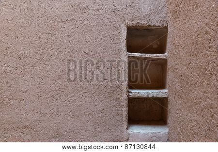 The Shelf Made From Soil Of Kasbah De Taourirt
