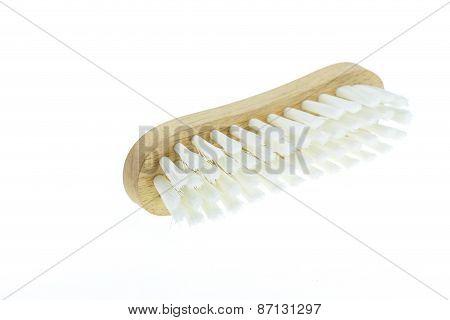 White Cleaning Brush