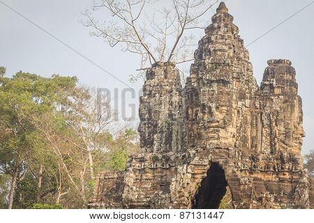 The amazing faces at the Bayon Temple, Siem Riep, Cambodia. Faces at Bayon