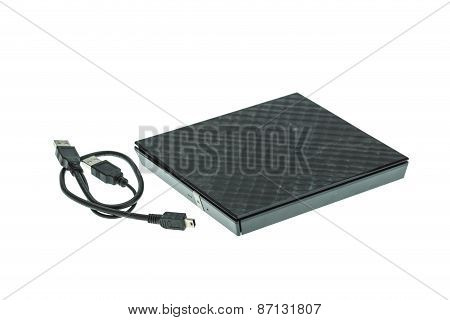 External Dvd Rom Isolated On White