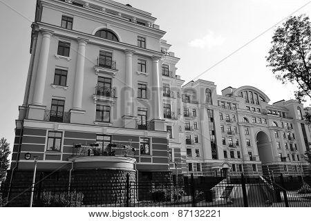 Modern Building Stylized Stalin Style.