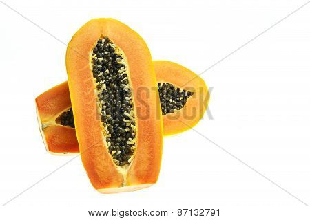 Thai Papaya Isolated On White