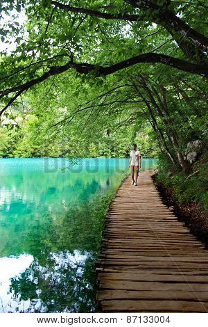 Man In Magical Way Plitvice