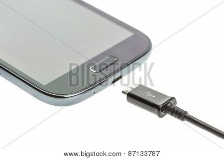 Macro Smartphone With Charger Cable