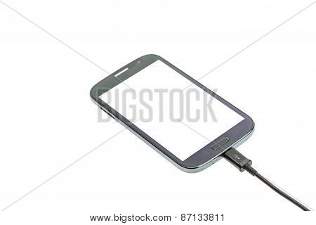 Smartphone Connect With Charger