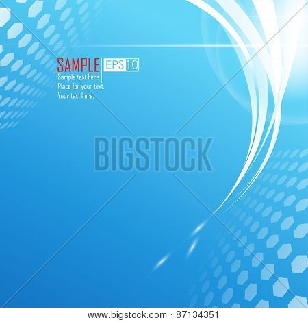 Blue Abstract Bight Background