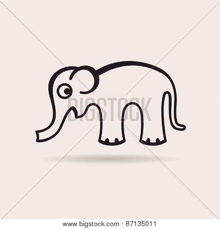 elephant icon. vector funny emblem