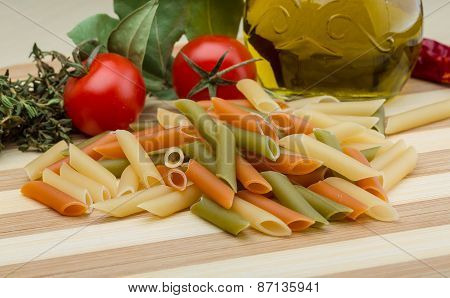 Raw Penne Pasta