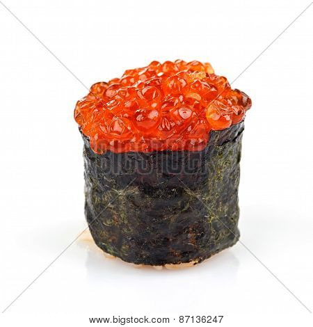 Sushi roll with roe